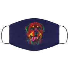 Load image into Gallery viewer, Canine's World Navy / One Size Ultimate Shield Face Masks Hand painted rottweiler human Face Mask