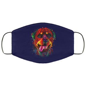 Canine's World Navy / One Size Ultimate Shield Face Masks Hand painted rottweiler human Face Mask