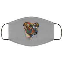 Load image into Gallery viewer, Canine's World Gray / One Size Ultimate Shield Face Masks Hand painted pitbull human Face Mask