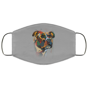 Canine's World Gray / One Size Ultimate Shield Face Masks Hand painted pitbull human Face Mask
