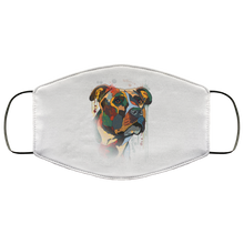 Load image into Gallery viewer, Canine's World White / One Size Ultimate Shield Face Masks Hand painted pitbull human Face Mask