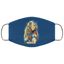 Load image into Gallery viewer, Canine's World Royal / One Size Ultimate Shield Face Masks Hand painted bassethound human Face Mask
