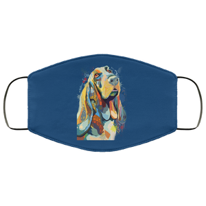 Canine's World Royal / One Size Ultimate Shield Face Masks Hand painted bassethound human Face Mask