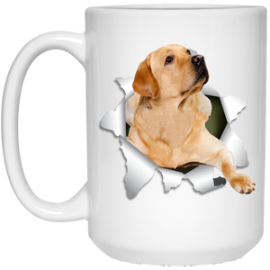LABRADOR RETRIEVER 3D 15 oz. White Mug - Canine's World