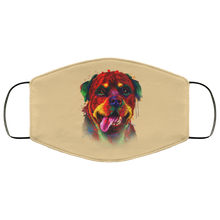 Load image into Gallery viewer, Canine's World Tan / One Size Ultimate Shield Face Masks Hand painted rottweiler human Face Mask
