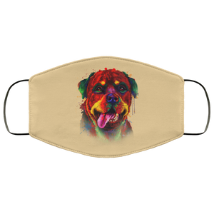 Canine's World Tan / One Size Ultimate Shield Face Masks Hand painted rottweiler human Face Mask