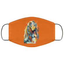 Load image into Gallery viewer, Canine's World Burnt Orange / One Size Ultimate Shield Face Masks Hand painted bassethound human Face Mask