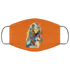 Canine's World Burnt Orange / One Size Ultimate Shield Face Masks Hand painted bassethound human Face Mask