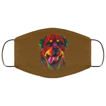 Load image into Gallery viewer, Canine's World Brown / One Size Ultimate Shield Face Masks Hand painted rottweiler human Face Mask