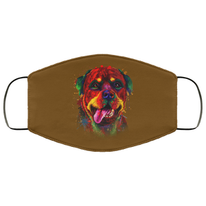 Canine's World Brown / One Size Ultimate Shield Face Masks Hand painted rottweiler human Face Mask