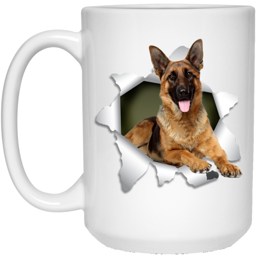 GERMAN SHEPARD 3D 15 oz. White Mug - Canine's World