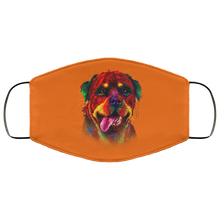 Load image into Gallery viewer, Canine's World Burnt Orange / One Size Ultimate Shield Face Masks Hand painted rottweiler human Face Mask