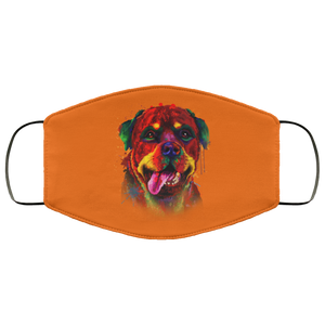 Canine's World Burnt Orange / One Size Ultimate Shield Face Masks Hand painted rottweiler human Face Mask