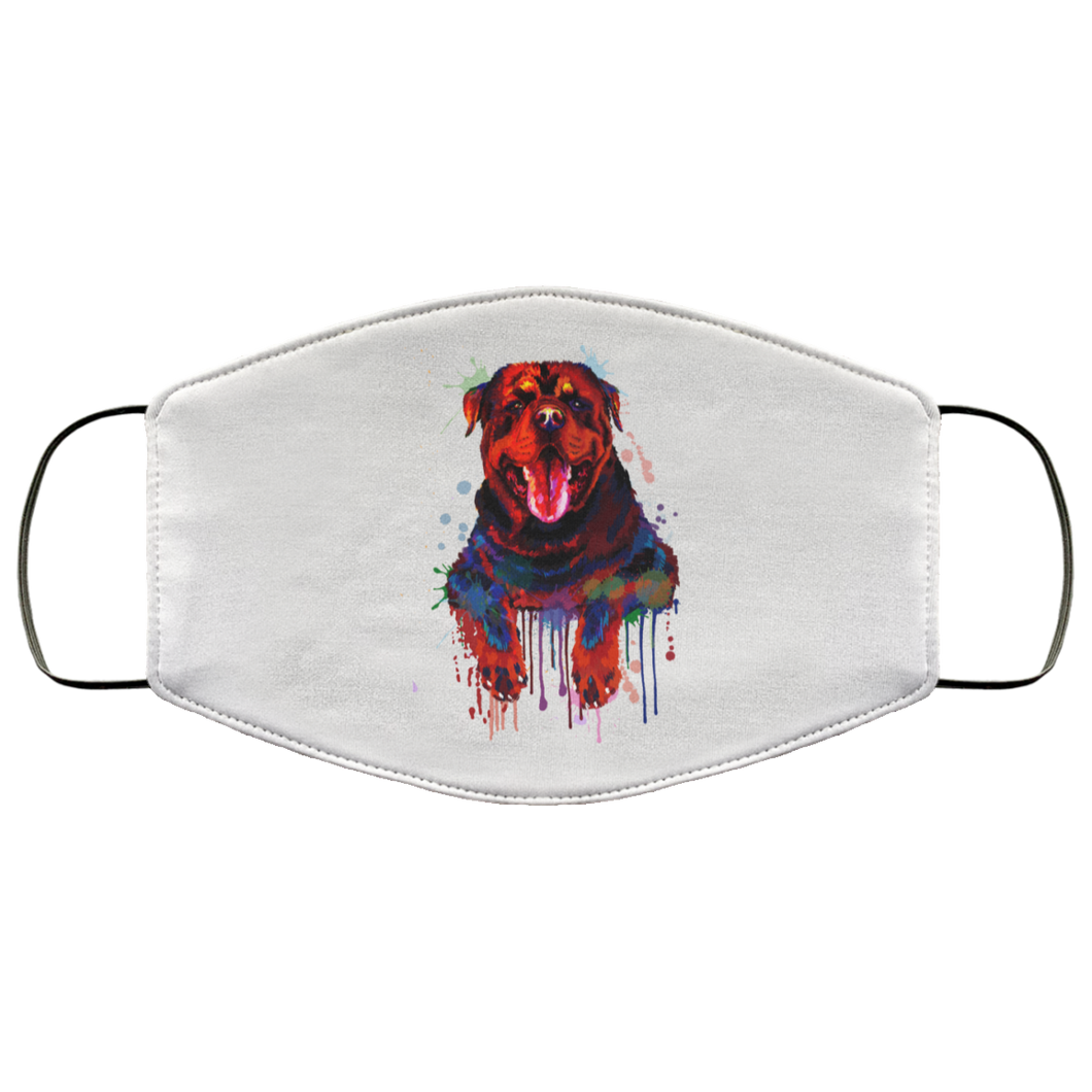 Hand painted rottweiler human Face Mask - Canine's World