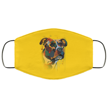Load image into Gallery viewer, Canine's World Gold / One Size Ultimate Shield Face Masks Hand painted pitbull human Face Mask