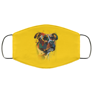 Canine's World Gold / One Size Ultimate Shield Face Masks Hand painted pitbull human Face Mask