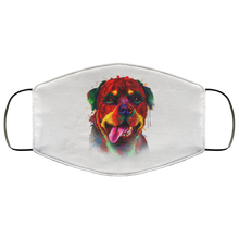 Load image into Gallery viewer, Canine's World White / One Size Ultimate Shield Face Masks Hand painted rottweiler human Face Mask