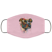Load image into Gallery viewer, Canine's World Pink / One Size Ultimate Shield Face Masks Hand painted pitbull human Face Mask