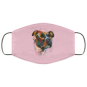 Canine's World Pink / One Size Ultimate Shield Face Masks Hand painted pitbull human Face Mask