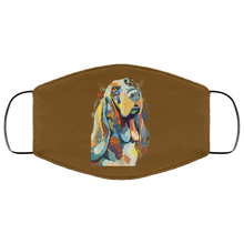 Load image into Gallery viewer, Canine's World Brown / One Size Ultimate Shield Face Masks Hand painted bassethound human Face Mask