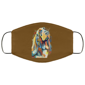 Canine's World Brown / One Size Ultimate Shield Face Masks Hand painted bassethound human Face Mask