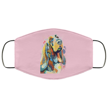 Load image into Gallery viewer, Canine's World Pink / One Size Ultimate Shield Face Masks Hand painted bassethound human Face Mask