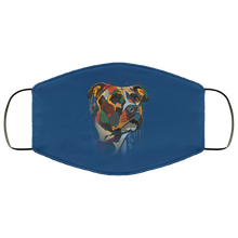 Load image into Gallery viewer, Canine's World Royal / One Size Ultimate Shield Face Masks Hand painted pitbull human Face Mask