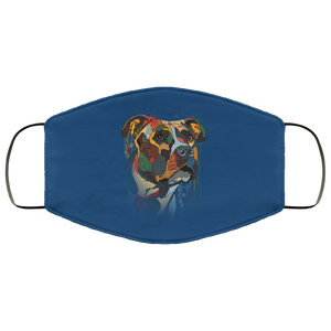 Canine's World Royal / One Size Ultimate Shield Face Masks Hand painted pitbull human Face Mask