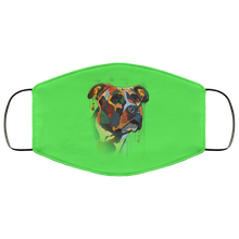 Load image into Gallery viewer, Canine's World Kelly / One Size Ultimate Shield Face Masks Hand painted pitbull human Face Mask