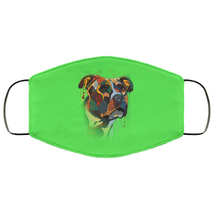 Canine's World Kelly / One Size Ultimate Shield Face Masks Hand painted pitbull human Face Mask
