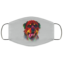 Load image into Gallery viewer, Canine's World Silver / One Size Ultimate Shield Face Masks Hand painted rottweiler human Face Mask