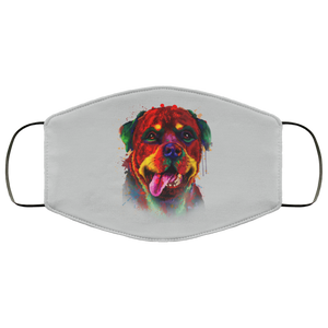 Canine's World Silver / One Size Ultimate Shield Face Masks Hand painted rottweiler human Face Mask
