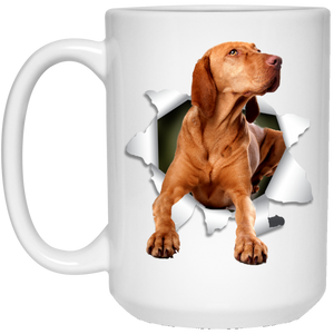 VIZSLA 3D 15 oz. White Mug - Canine's World