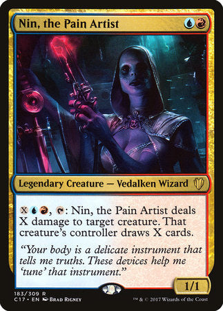 Nin, the Pain Artist [Commander 2017] | Pro Gamers and Collectables