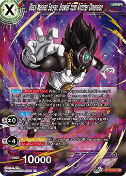 Black Masked Saiyan, Brawler from Another Dimension (Super Rare) [BT13-004] | Pro Gamers and Collectables