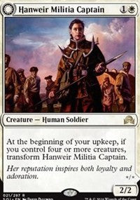 1 x MTG: Hanweir Militia Captain Creature Shadows Over Innistrad Magic