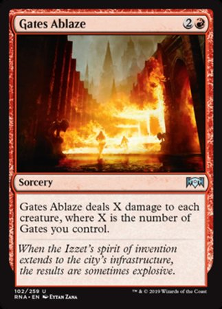 Gates Ablaze [Ravnica Allegiance] | Pro Gamers and Collectables