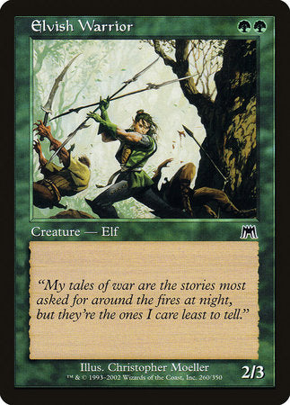 Elvish Warrior [Onslaught] | Pro Gamers and Collectables