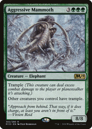 Aggressive Mammoth [Core Set 2019] | Pro Gamers and Collectables