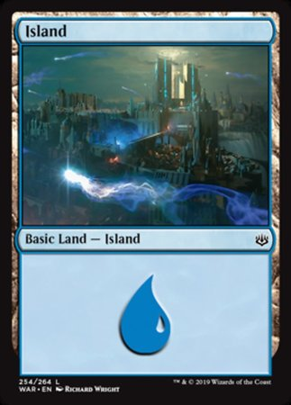 Island (254) [War of the Spark] | Pro Gamers and Collectables
