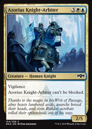 Azorius Knight-Arbiter [Ravnica Allegiance] | Pro Gamers and Collectables