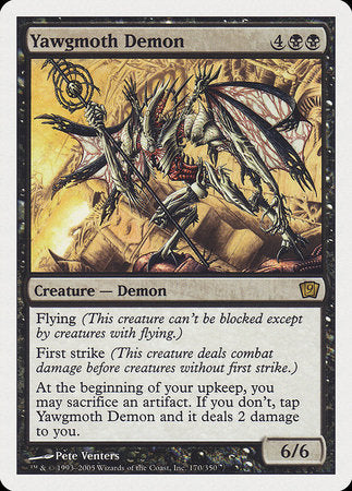Yawgmoth Demon [Ninth Edition] | Pro Gamers and Collectables