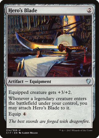 Hero's Blade [Commander 2017] | Pro Gamers and Collectables