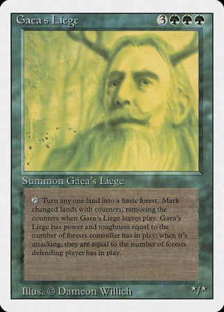 Gaea's Liege [Revised Edition] | Pro Gamers and Collectables