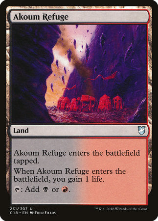 Akoum Refuge [Commander 2018] | Pro Gamers and Collectables