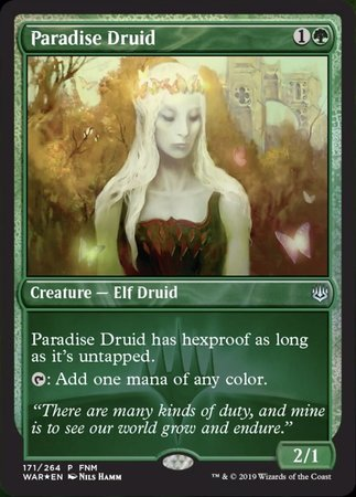 Paradise Druid [War of the Spark Promos] | Pro Gamers and Collectables