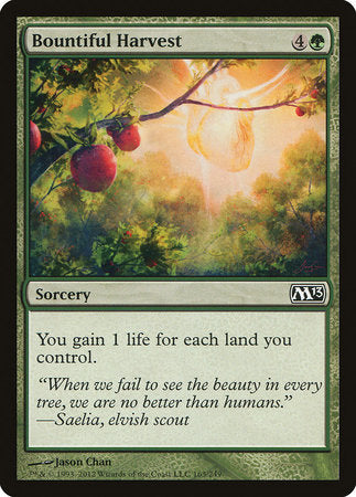 Bountiful Harvest [Magic 2013] | Pro Gamers and Collectables