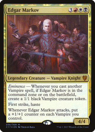Edgar Markov [Commander 2017] | Pro Gamers and Collectables