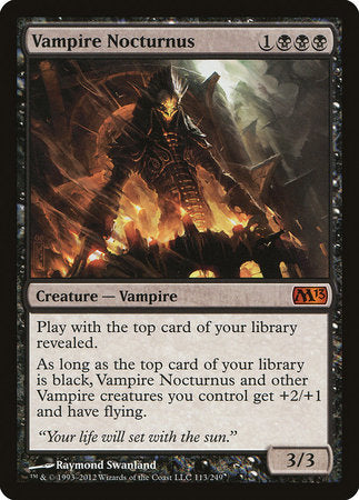 Vampire Nocturnus [Magic 2013] | Pro Gamers and Collectables