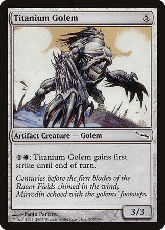 Titanium Golem [Mirrodin] | Pro Gamers and Collectables